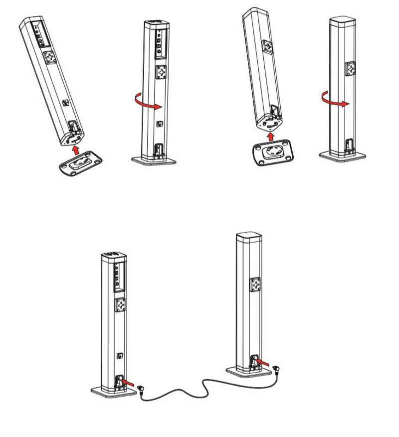 سماعة صوت للتلفاز قابلة للفصل مزودة بتقنية البلوتوث من Sounderlink سماعة صوت لاسلكية مزودة ببرج HiFi صوت للمسرح المنزلي قضيب صوت بصري للتلفاز LED