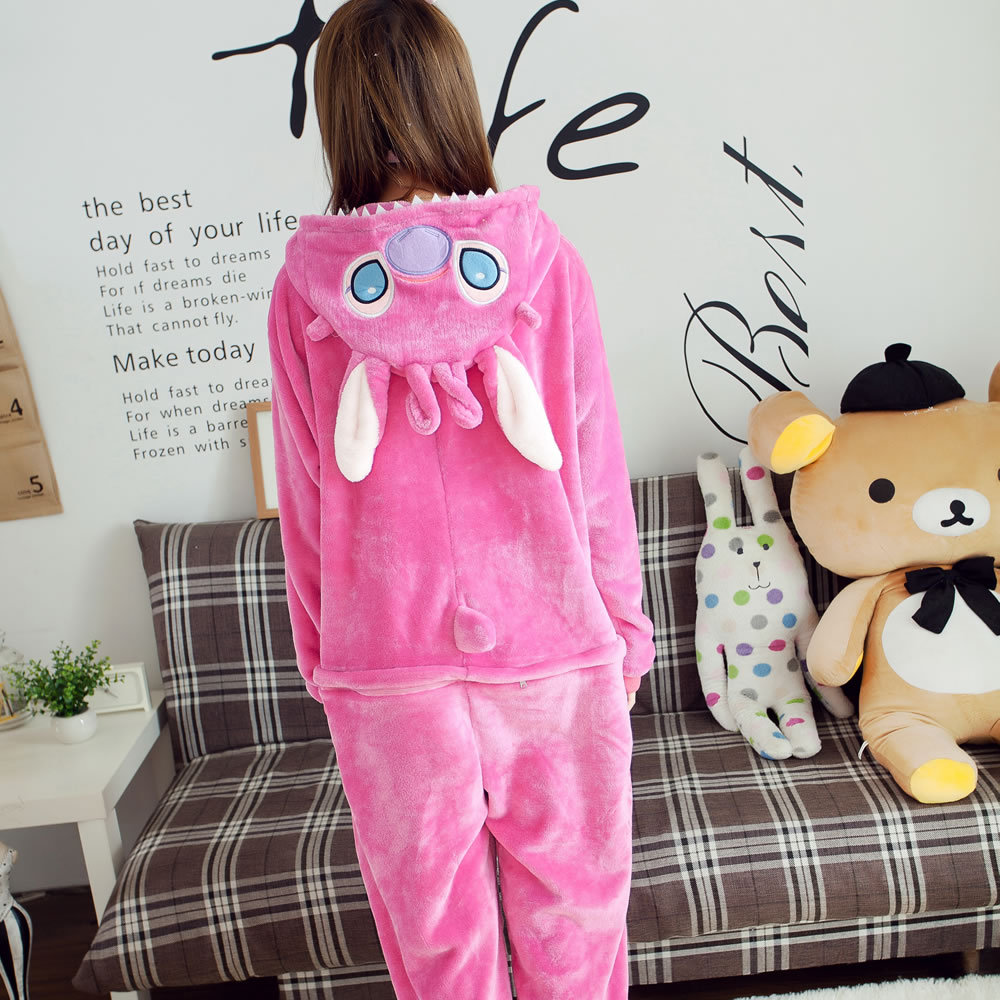 4a262a81bf8a Winter Spring red monster Fleece Women Men Ladies Adult Footed ...