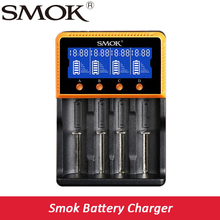 Оригинал smok интеллектуальные Зарядное устройство 4-слот Зарядное устройство Портативный Smart 18650 Батарея li-ion/Li-FePO4/Ni-MH/Ni- CD e-сигареты Батарея Зарядное устройство