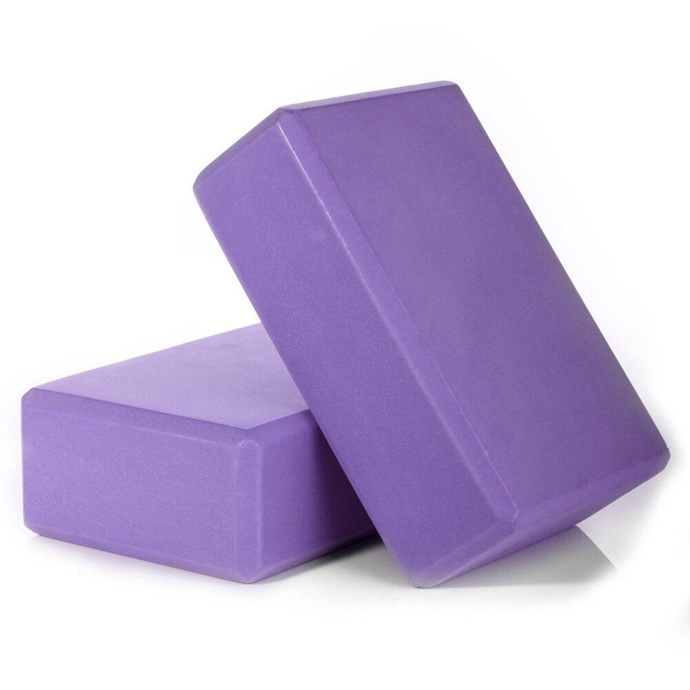 EVA Yoga Props Blocks Bricks Foam Gym Exercise Fitness Trainer Sport Tool Us (purple, 4PC)