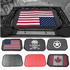 Durable Polyester Mesh Shade Top Cover Provides UV Sun Protection for Your Jeep Wrangler 2 Door / 4-Door JK JKU 2007-2018