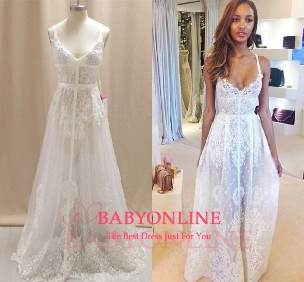 Aliexpress.com : Buy Bohemian Lace Wedding Dress Real Samples Sexy ...