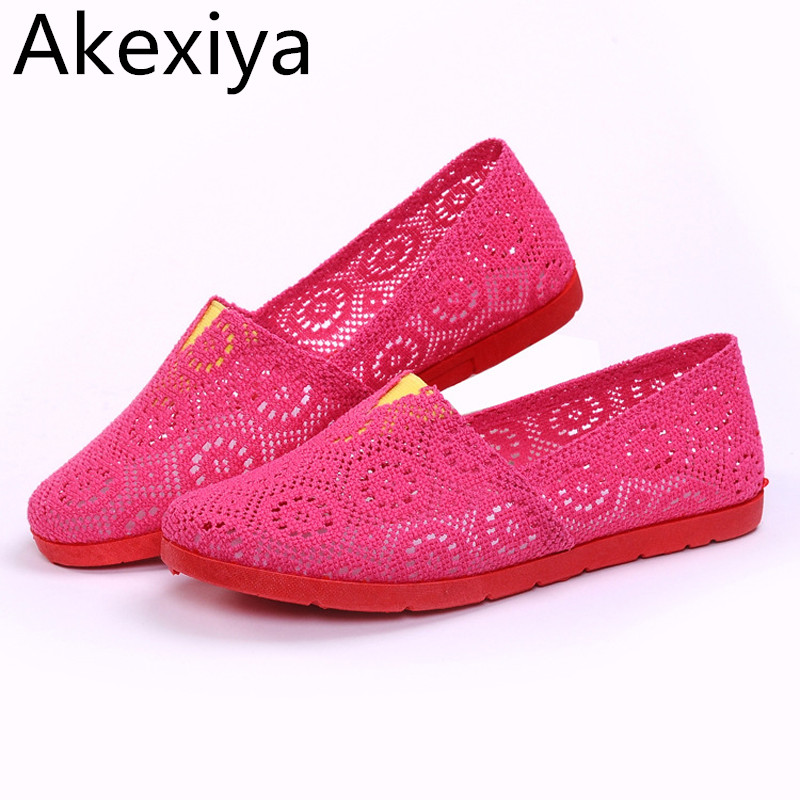Akexiya Nest Women Shoes Spring Summer Soft Insole Ladies Flat Shoes Causal Walking Shoes Slip On Plus Size 5~9 fashion boutique beige rubber soft front insole for ladies fit any shoes