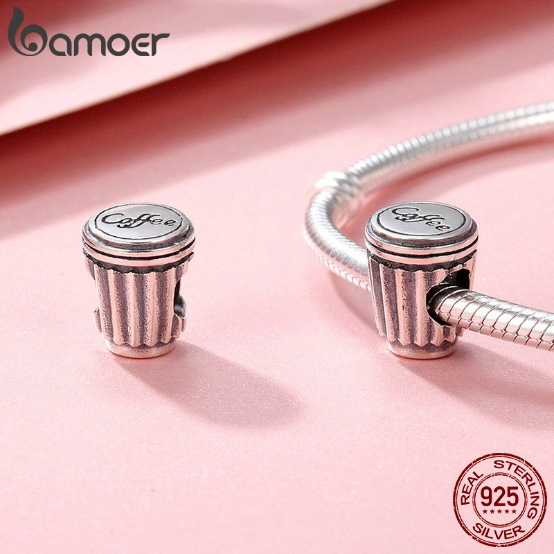 Bamoer European 925 Sterling Silver charm The gift of love Fit Bracelet Jewelry