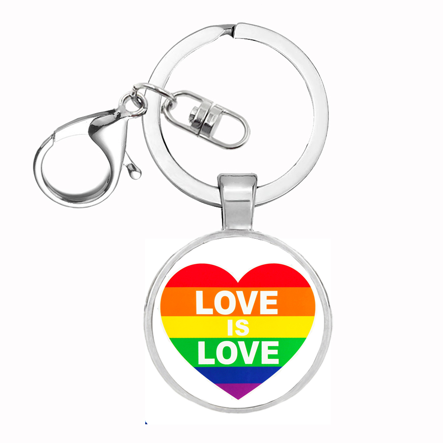 2018 new LGBT Pride Rainbow <font><b>Asexual</b></font> Bisexual Metal Key <font><b>Rings</b></font> Jewelry Keychain for Car Wallet Bag DIY Accessories Gift image