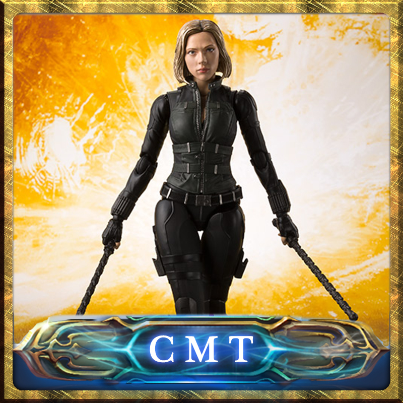 купить CMT Origianl Bandai Tamashii Nations Marvel Conics S.H.Figuarts SHF Black Widow (Avengers/Infinity War) Action Figure Full Set по цене 7219.77 рублей