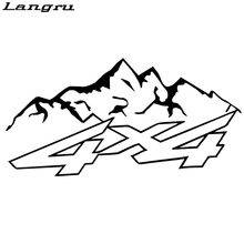 Langru New Design 4x4 Mountain Offroad Fashion Vinyl Decals Motorcycle Car Sticker Car Styling JDM(China)