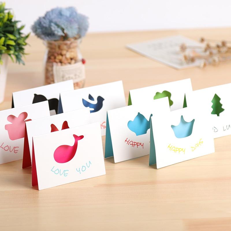 20pcs Kraft Handmade Jewelry Big Cream Card 8.5x6cm Paper Craft Gift Card Best Wish Cute Jewelry Displays Birthday