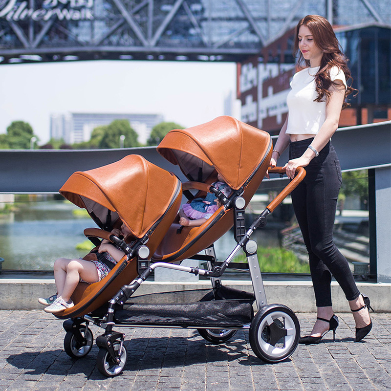 Semaco lightweight ,high landscape,twin baby stroller, front and rear seats,can lie down and can sit,twin baibos bai twin landscape baby stroller double front and rear can lie sit