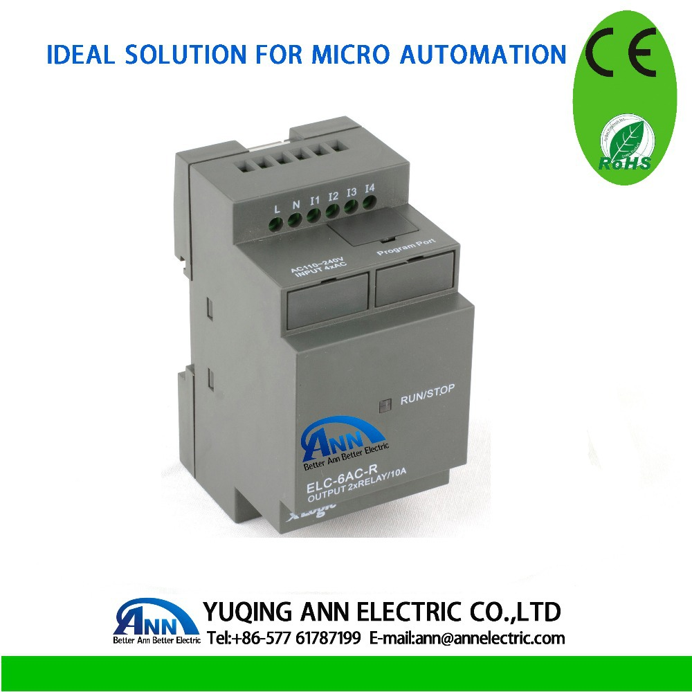 ELC-6AC-R without cable Programmable logic controller,smart relay,Micro PLC controller , CE ROHS