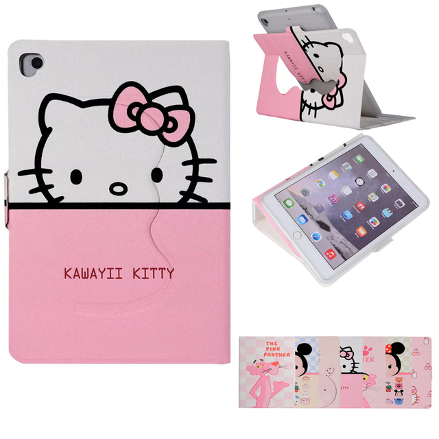 cute hello kitty rabbit stand magnetic smart tablet case cover for