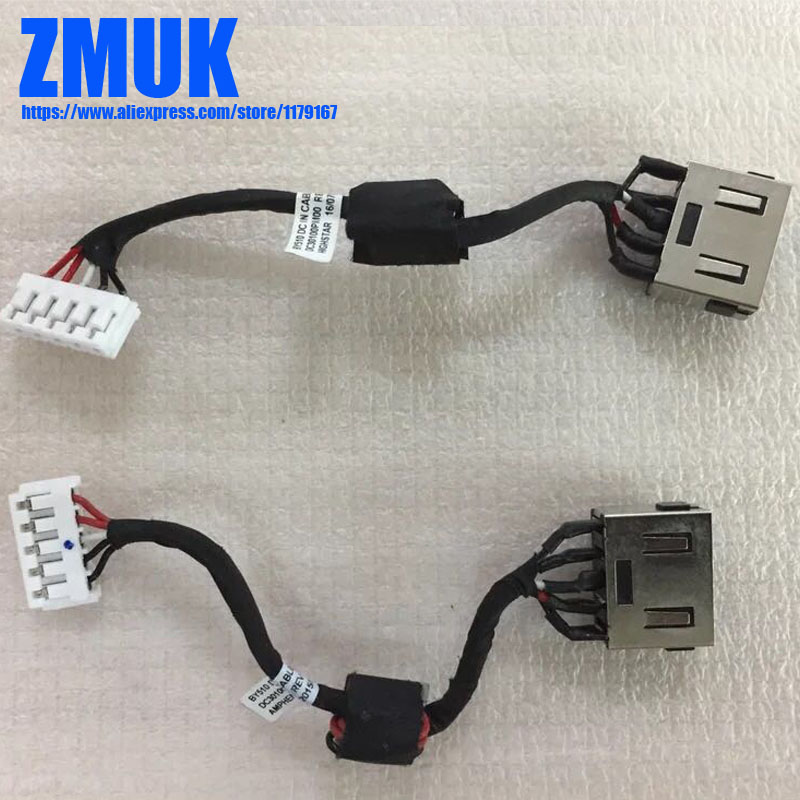 New Original DC-IN Power Jack w/ Cable For Lenovo Y700 Y700-15ACZ Y700-15ISK Series,P/N 5C10K25519 DC30100PM00 new laptop keyboard for lenovo 15 y700 15 isk y700 15isk y700 15 us layout