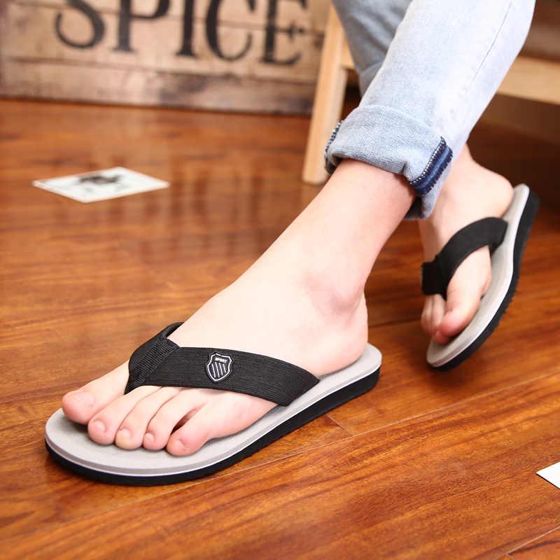 d3109b5b658a2 ... Zplover 2018 New Korean Men Summer Sandals Slippers Fashion Mens Flip  Flops Slippers Sandals Men chinelo ...