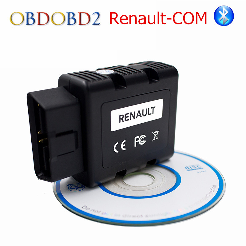 Newest For Renault-COM Bluetooth Car Diagnostic Tool For Renault COM Multi-Languages Free Ship op com car vehicle diagnostic tool black