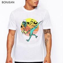 Hold On To Your Margaritas dinosaur t shirt men funny vogue tshirt homme harajuku kawaii clothes summer tops t-shirt
