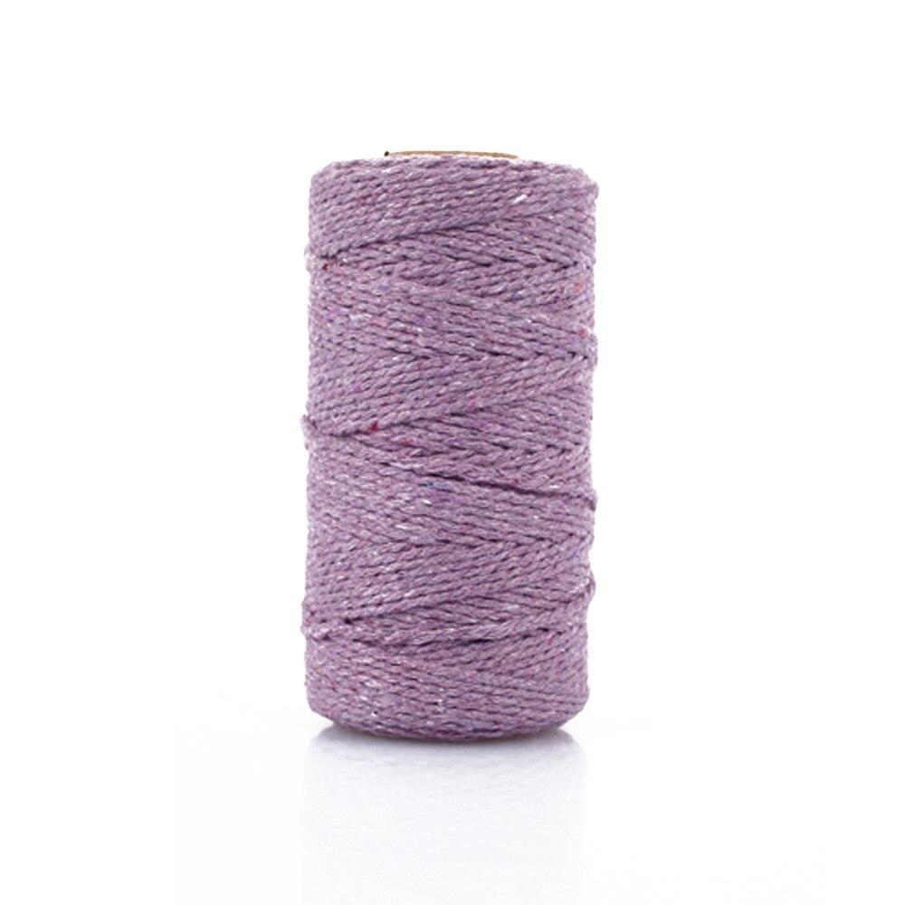 SOLEDI макраме Artisan текстильная лента витой шнур веревка 100 Двор привлекательный веревка Свадебная вечеринка хлопок плетеный шнур подарок обёрточная бумага - Цвет: light purple
