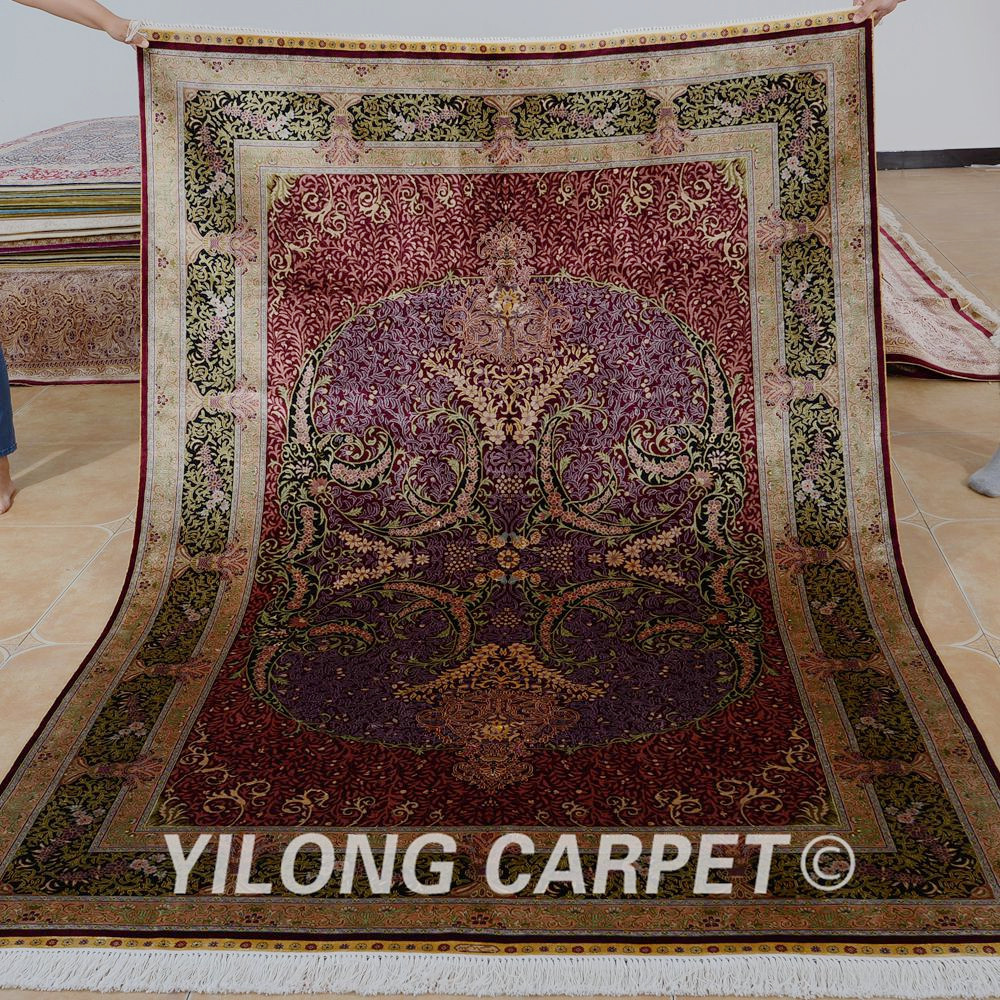 Yilong 5 X7 Persian Carpet Price Red