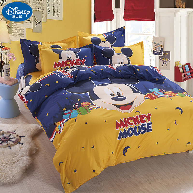 Mickey mouse Bedding Set Cover pillowcase quilt minnie mouse cartoon Children bedclothes  bed set Disney  Home textile mickey mouse