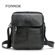 2017 High Quality Cow Genuine Leather Men Shoulder Crossbody Bag Hombre Man Satchel Leisure iPad Messenger