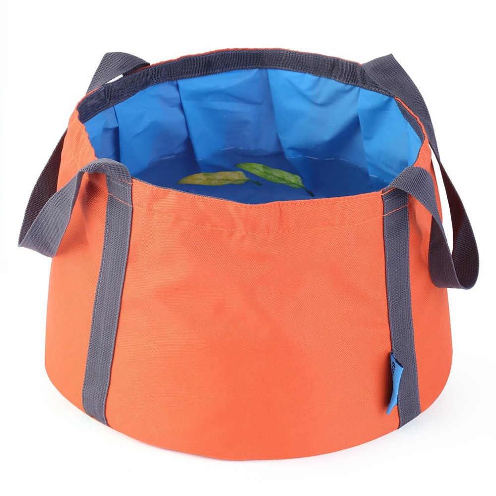 Outad multi-funcional eco-amigável acampamento caminhadas pesca portátil balde de acampamento aplicável balde dobrável saco
