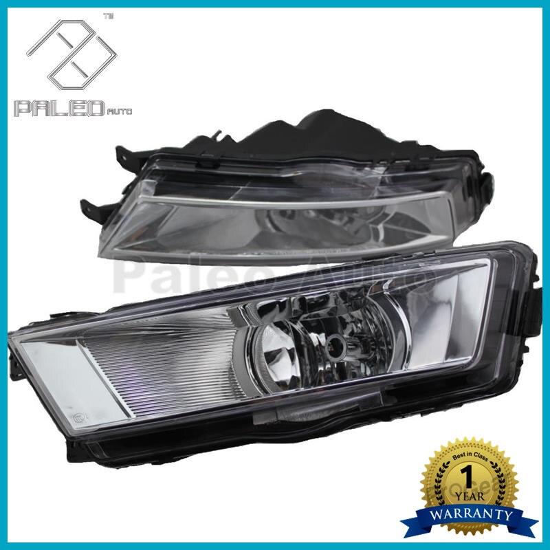 2pcs Free Shipping For Skoda Octavia A7 MK3 2013 2014 2015 2016 New Pair Of Front Halogen Fog Lamp Fog Light With Bulbs