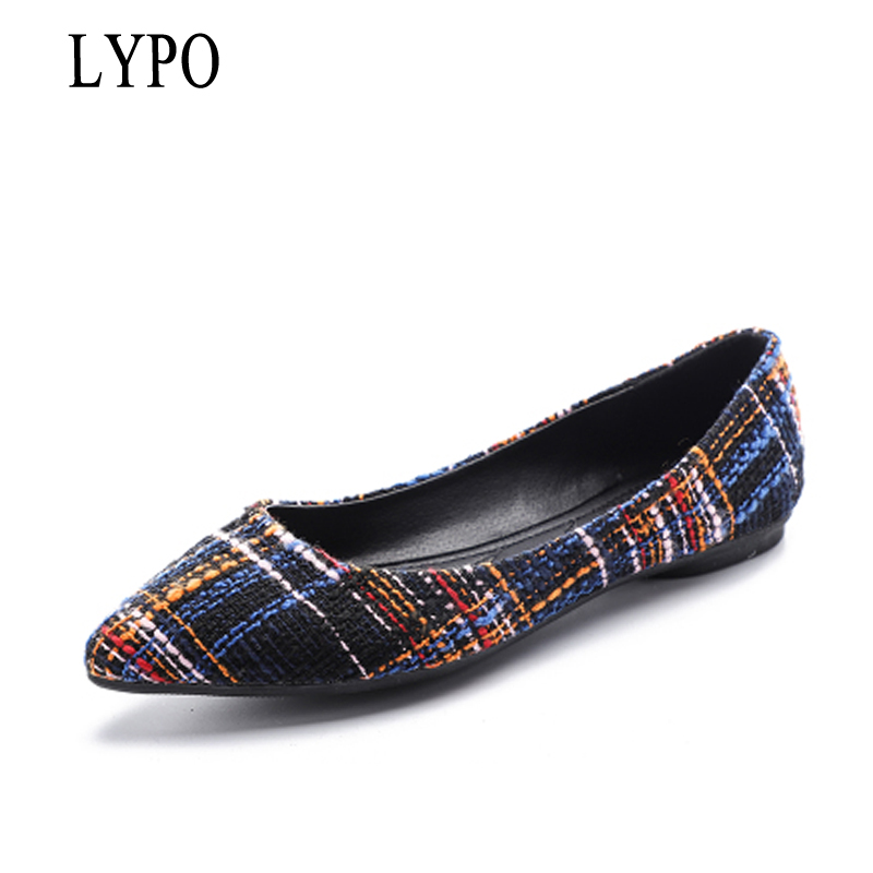 LYPO 2018 spring new women shoes shallow mouth wild pointed toe single shoes women simple generous large size flats shoes 2018 spring summer low heel sandals pointed toe shallow mouth women shoes woman cozy casual shoes leisure single ladies shoes cy