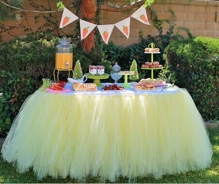 Fantastic Champagne Tulle Tutu Table Skirt Candy Buffet Table Skirt Download Free Architecture Designs Ferenbritishbridgeorg