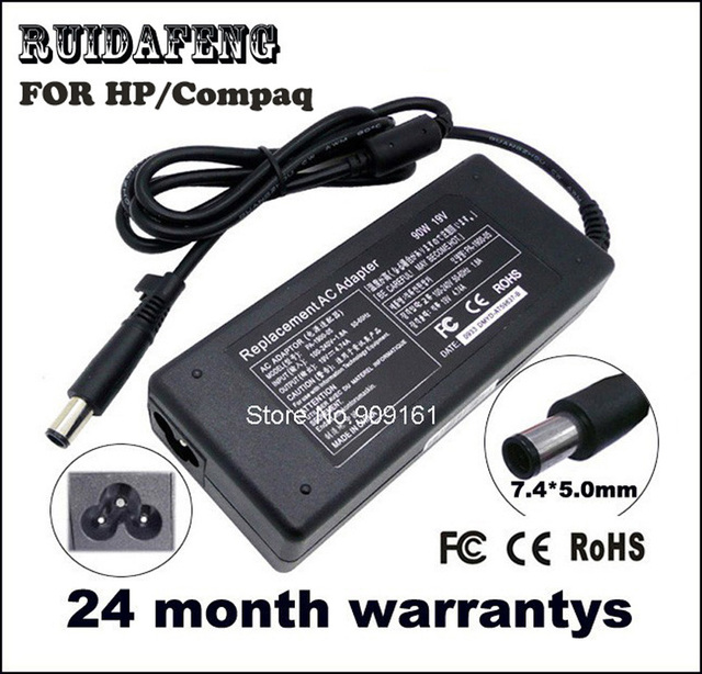 Laptop AC Adapter For HP Compaq Charger 19V 4.74A 90w Business Notebook 2230s 2510p 2710p 6510b 6515b 6530b 6535b