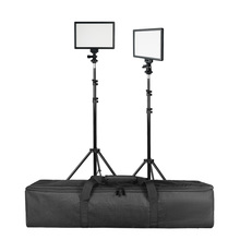 SUPON L122T 2 Sets LED Video Light Studio Light Photographic Lighting with Tripod 3200K/5600K Panel Lamps for Photo Youtube spash tl 240s led video light 2 in 1 kit photography lighting led panel lamp camera light with tripod for youtube photo studio