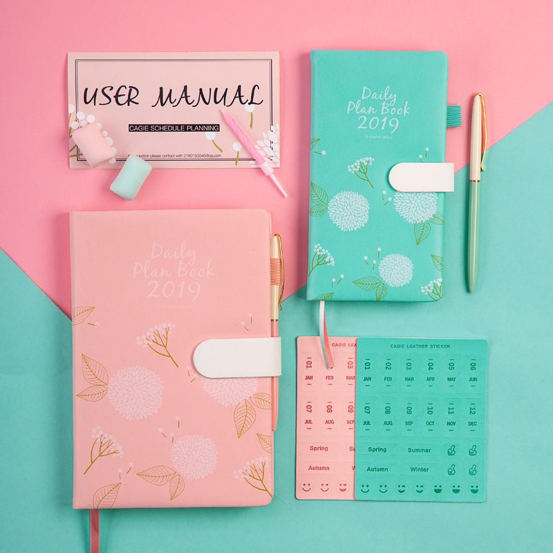 1pcs New diary color notebook English alphabet travel diary plan notebook small fresh notebook diary A5/A6