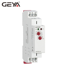 цена на GEYA Delay on Time Relay 12V 24V 230V Timer Relay Din Rail Type Time Delay Relays with CE CB certificate