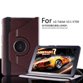 For LG G Pad 10.1 V700 360 Degree Rotating  Case Leather Cover For LG G Pad V700 Protective Case