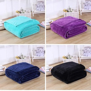 Image 2 - CAMMITEVER 24 Colors Home Textile Solid Air/Sofa/Bedding Throw Flannel Blanket Winter Warm Soft Bedsheet 150/180*200cm 200*230cm