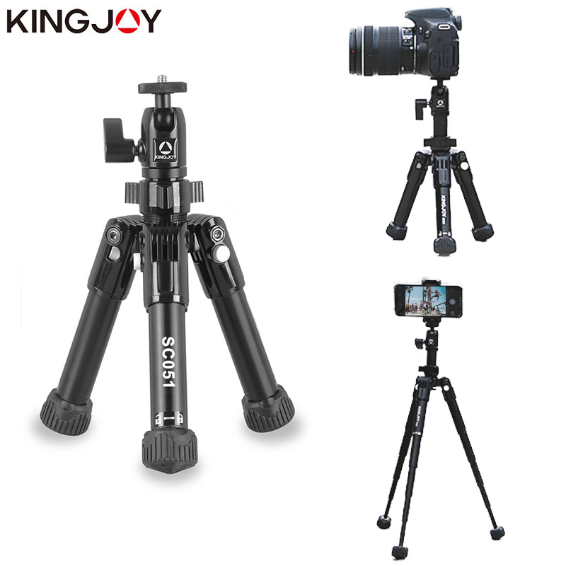 KINGJO Offizielle SC051 Mini Kamera Tisch Stativ Für Telefon Gorillapod Mobile Kutteln Para Movil Aluminium Tripode Stehen Selfie Stick