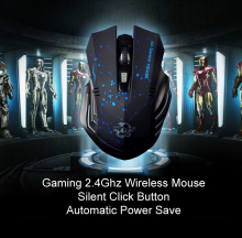 2017 New Portable 2.4Ghz Wireless Optical Gaming Mouse Silent Click button Gamer Mice For PC Laptop Computer Pro free shipping