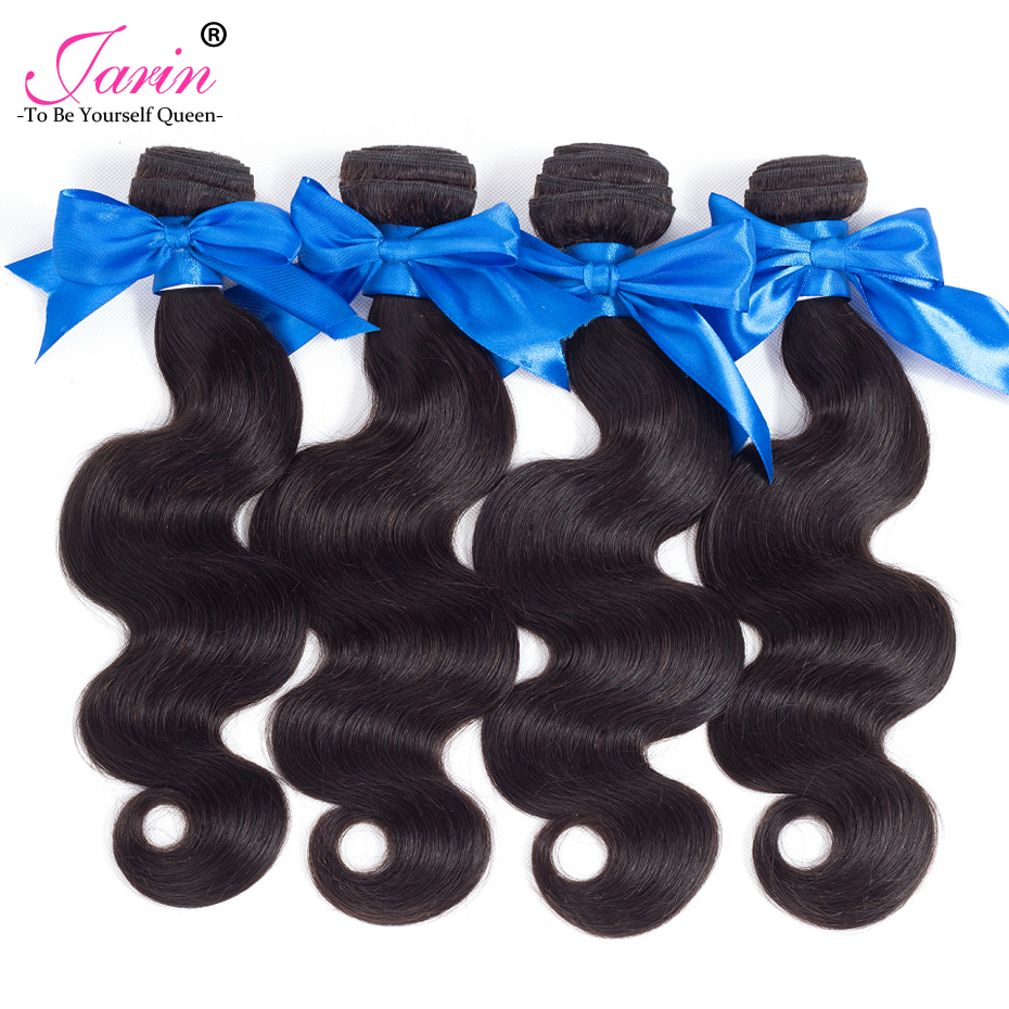 JARIN Human Hair 4 Bundles Brazilian Body Wave 8-28 Brazilian Hair Extension Body Wave W ...