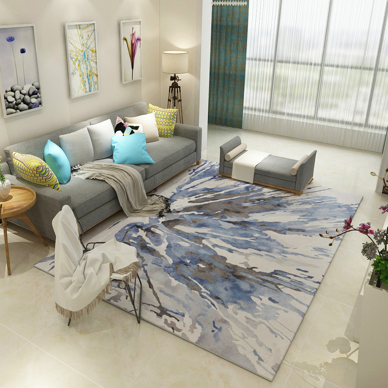 Hotel Decoration Parlor Area Rugs Washable Mat Abstract Carpet Living Room Cartoon CarpetsChina