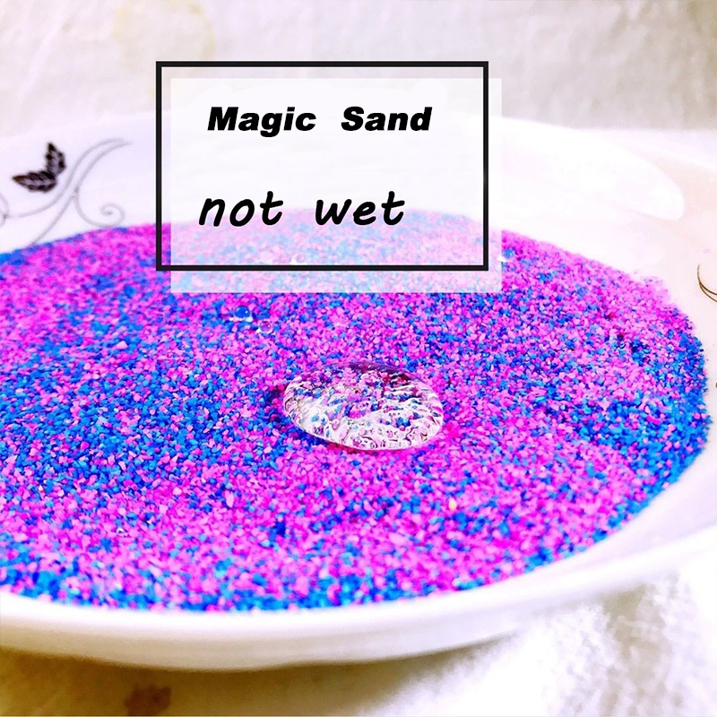 100g bag DIY Not Wet Magic Sand Handmade Toys Non toxic Magic Mars Space Sand Educational Toy For Kid Gifts oyuncak in Modeling Clay from Toys Hobbies