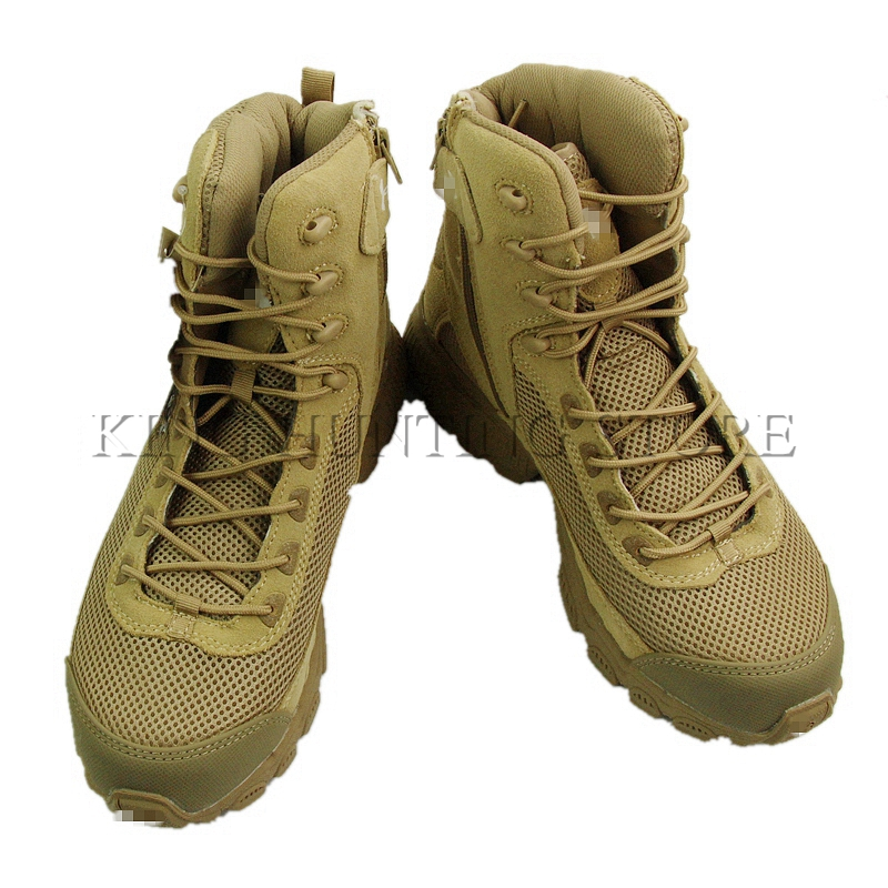 Outdoor desert sand mesh boots military army assault tactical breathable men travel hiking fishing shoes botas