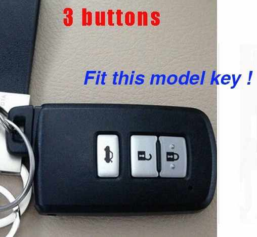Autosleutelzakje Siliconen Covers Case Shell Set Voor Toyota 2007 2008 Camry Rav4 Prius Hilux 3 4 Knoppen Keyless entry Accessoires