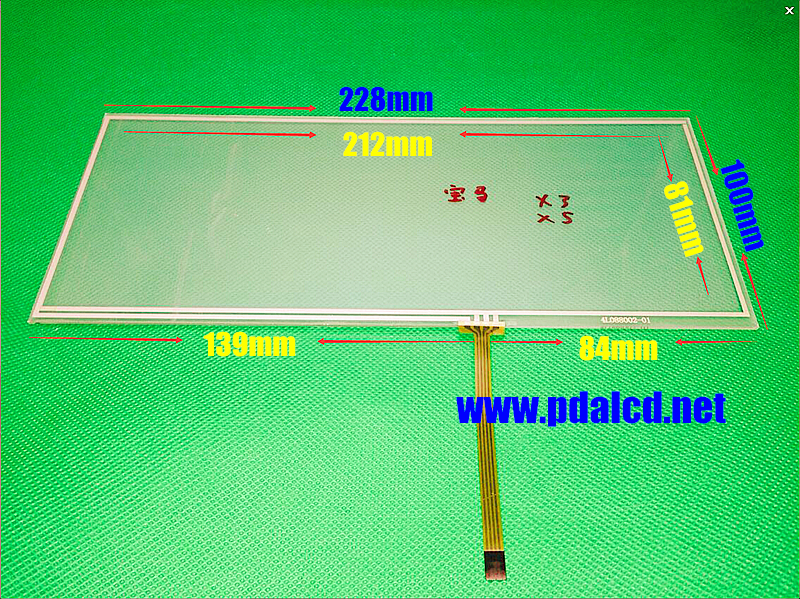 TOUCH For X3 X5 8.8-inch 228mm*100mm 228*100mm 4 wire Resistive Touch screen digitizer panel CAR GPS Navigation Touch Screen amt 146 115 4 wire resistive touch screen ito 6 4 touch 4 line board touch glass amt9525 wide temperature touch screen