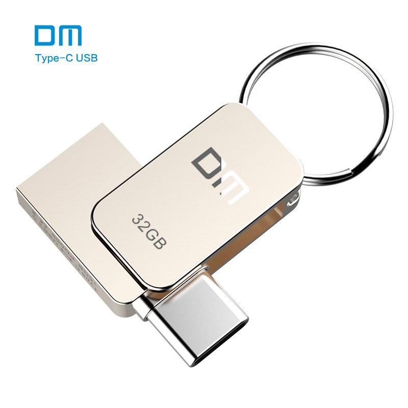 Envío libre DM PD059 16 GB 32 GB 64G USB-C Tipo-c USB OTG 3.0 Flash Drive Pen Drive de Memoria Del Teléfono Inteligente MINI Usb Stick
