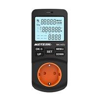 Wattmeter Meterk Digital Power meter voltmeter Ammeter Timer Socket Electricity Energy Monitor Home Electric Usage Tester