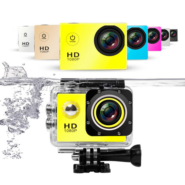 """Waterproof Mini Action Camera FHD 1080P Outdoor Sport Gopro Style Go Pro 2"""" Screen Camcorder Micro Cam Video Audio Recorder"""