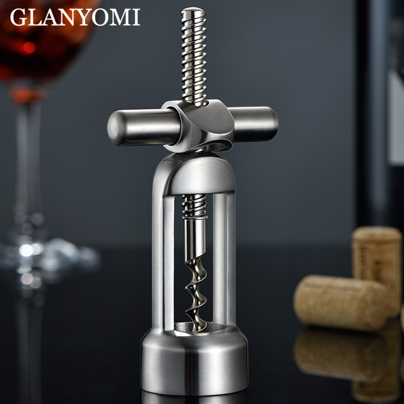1 Or 3pcs 304 Stainless Steel Modern Wine Bottle Opener Corkscrew Leverage Design Corkscrew For Red Wine Kitchenware Bar Tools