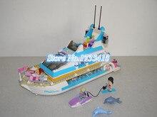 AIBOULLY Друзья Девушки Серии Крупных круизных судов Модель мини Строительные Блоки девушка Летние детские игрушки совместимость 41015