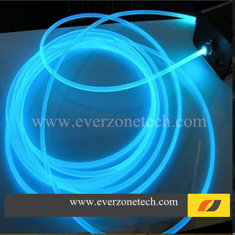 3mm Solid Core Side Glow Fiber Optic Lighting Cable for Indoor Application ...