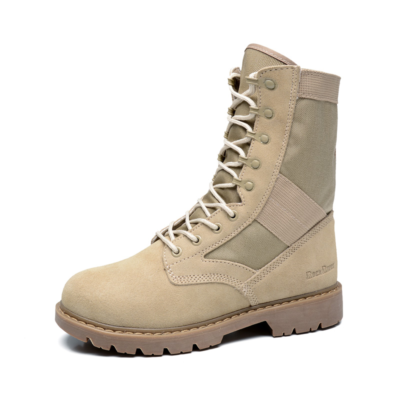 Ifrich Top Quality  Outdoor Boots Men Khaki Men Shoes Military Sport Lace Up Sneaker Boots Hard-Wearing Hiking Shoe Brands fire maple sw28888 outdoor tactical motorcycling wild game abs helmet khaki