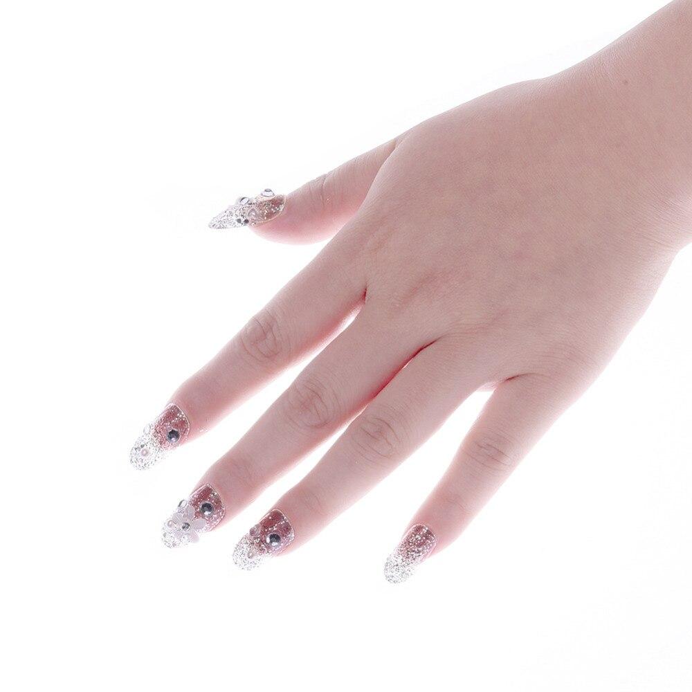 24 Stücke Strass Perlen Gefälschte Nägel Diamant Blume Braut ...