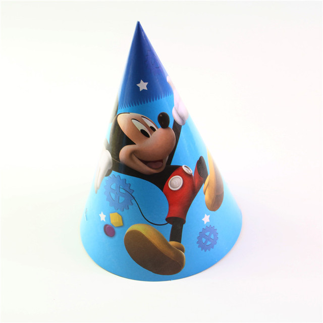 6pcs Happy Birthday Party Decoration Child Mickey Mouse Cartoon